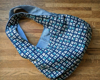 Reversible Bag | Upcycled Denim and Organic Cotton