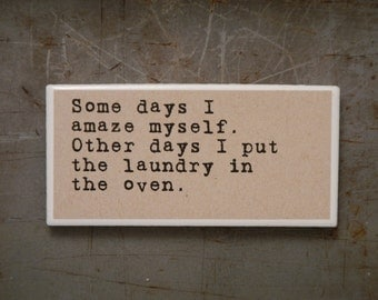 magnet, Funny Magnet, Refrigerator magnet, sarcasm, small gift, gift for friend, funny gift, gifts under 5, stocking stuffer, 96