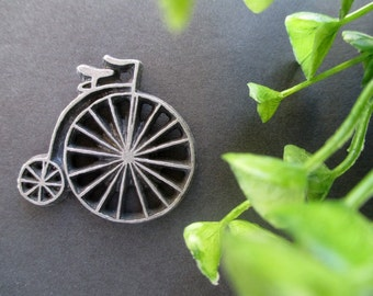 Bicycle Tie Tack Pin * Victorian Bicycle * Penny Farthing * High Wheel * Ann Clark * Bicycle Fan