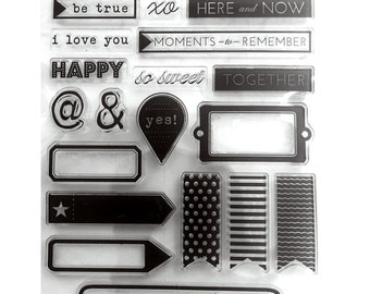 Clear stamp sheet for planning or scrapbooking 4x6 26 planner stamps acrylic