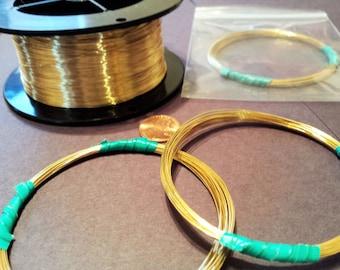 Jewelers Bronze Brass ROUND Wire Gauges 12-28 Nu-Gold Merlins Gold USA Dead Soft 5-20 Feet Wire Wrap Jewelry