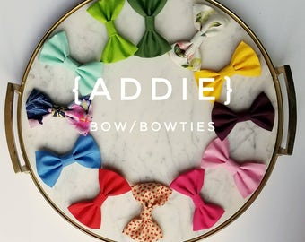 Bow/bowties - 15 colors & patterns available//bows//bowtie//hair accessories//baby/toddler//fabric bows//baby boy bowtie//baby girl hairbow