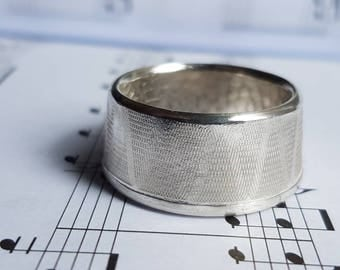 Fine Silver Coin Ring Size Z