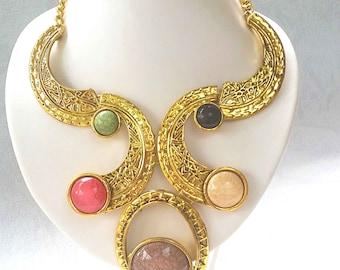 Chest art deco necklace