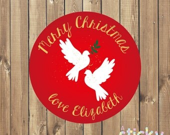 Personalized Christmas Stickers, Christmas Stickers, Christmas Labels, Christmas Tags, Christmas Gift, Custom Stickers, Xmas, Holidays