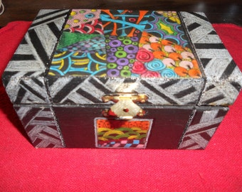 Nice Zentangle Handmade Box