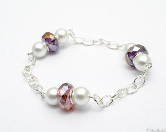 Pearl crystal bracelet  MJ0108