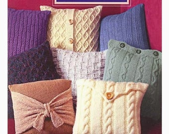 Pillows to knit Ebook how to knit Knitting pillow Pdf file Home decor Knit for home