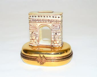 Limoges-Box-Arc-De-Triomphe-Numbered-41-Limited-Edition-Peint-Main-France