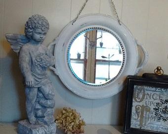 Repurposed  Tray Mirror