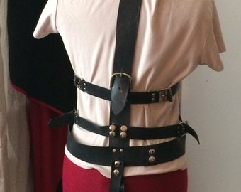 Harness leather and 2mm LaTeX