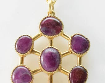 ruby pandent necklace