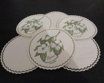 Vintage Floral Tea Teatime Paper Coasters/Doilies