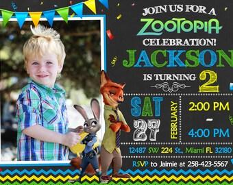 Zootopia Invitation Birthday Zootopia Party