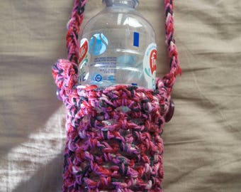 Crocheted Adjustable Waterbottle Holders.