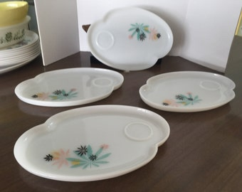 Vintage snack trays set of 4, free shipping!