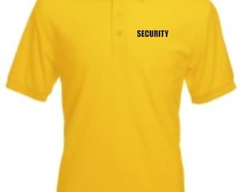 SECURITY POLO SHIRT Doorman Bouncer Guard Door Supervisor Bodyguard New