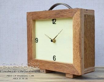 Desk Clock, Table Clock, Modern Clock, Clock, Wooden Clock, Handmade Clock, Small Clock, Oak Clock, Table Clock,