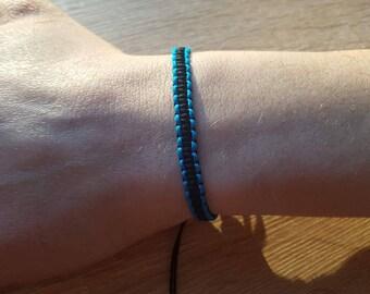 Macrame bracelet, bracelet, mens bracelet, adjustable, unisex, thin bracelet, string
