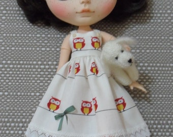 BLYTHE DOLL-- Sundress Owl Print --Dress Only