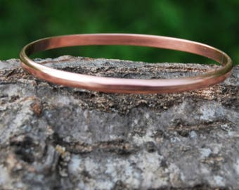 Simple Copper Bracelet Bangle - MInimalist Copper Bracelet