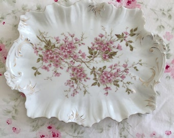 Vintage Shabby Chic/Victorian Porcelain Dresser Tray