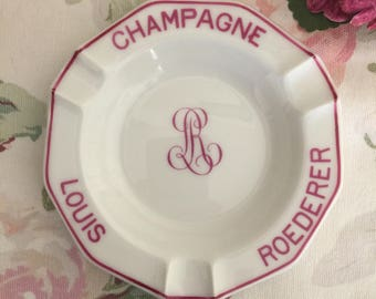 Vintage Louis Roederer Champagne Ashtray - Made in France