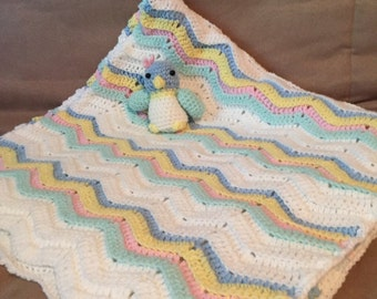homemade baby Afghan with penguin
