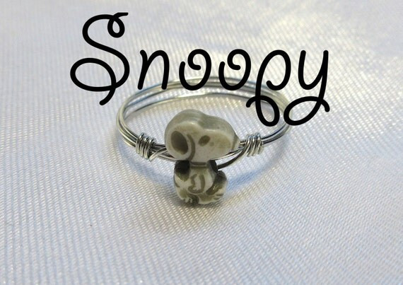 snoopy ring midi ring gold or silver
