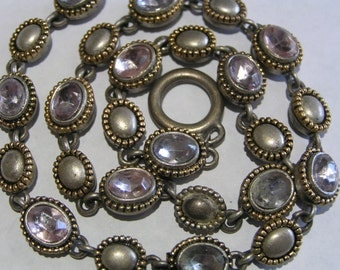 Vintage riviera necklace - Victorian revival Jewelry