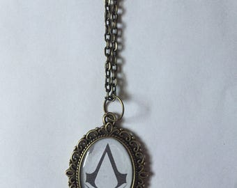 Assassin's Creed Logo Cameo Necklace
