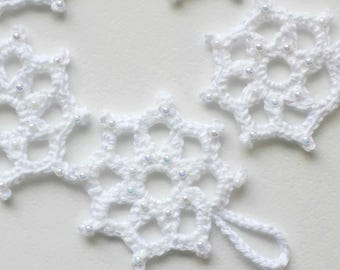 Set of five snowflakes Christmas Decorations Home Decor Decorations on the Christmas tree CIJ