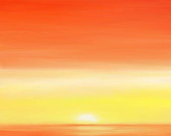Sunset on Belfast Painting — Signed, Limited Edition Giclee Prints
