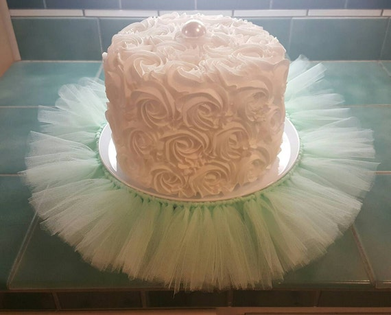 Cake Stand Tutu Mint Green Cupcake Tier Tulle Skirt