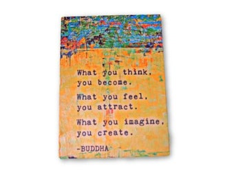 budha quotes - wall hanging print - office art - art prints - wooden decor - inspirational quote