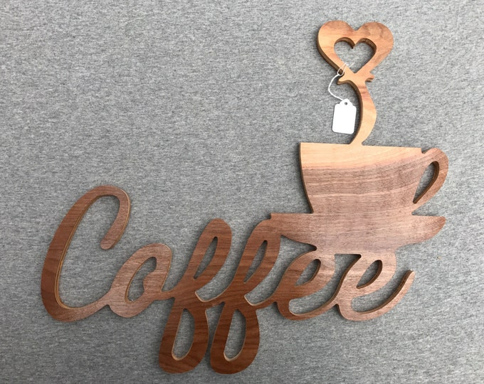 Coffee Bistro Sign with heart
