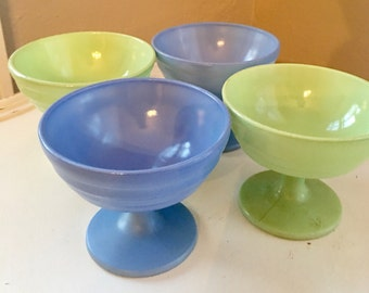 Vintage Hazel Atlas Moderntone Sherbet Dishes - set of four