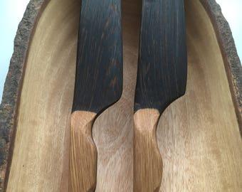 Handmade All Wood Cake Knives