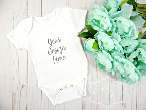 Blank Onesie Product Image White Baby Onesie Product Mockup