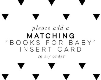 Books for Baby Card  | Bring a Book Card | Baby Shower Cards | Stock the Library Card