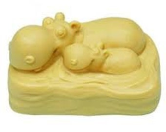 Hippo Mum & Baby Silicone Mould