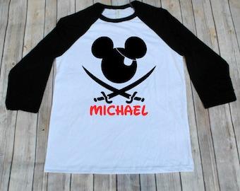 Disney Pirate Shirt, Mickey Pirate, Disney Pirate, Disney Cruise, Disney Inspired Adult Shirt, Disney Family Shirts, Mickey Pirate Shirt