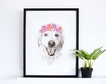 Custom Pet Portrait Commission / Personalised Pet Portrait / Cat Portrait / Dog Portrait / Animal Portrait