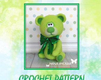 Lime - the teddy bear - Amigurumi Crochet Pattern by Maria Amelina