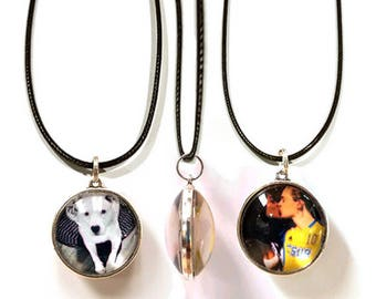 Custom Double-Sided Photo Necklaces - Personalized Photo Pendants - Special Photo Gifts