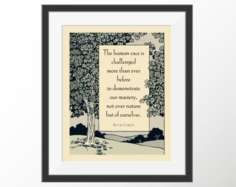 Inspirational Quote Humanity Rachel Carson Human Nature Motivational Decorative Art Print