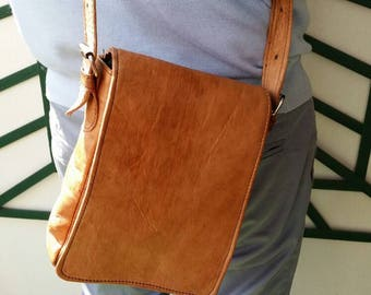 Sale 50% Men satchel bag cross body bag brown leather bag vintage bag shoulder bag