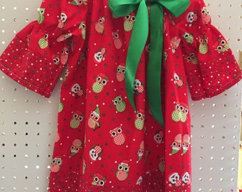 Christmas Owls - size 4T