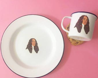 Solange Mug and Plate Enamel Set