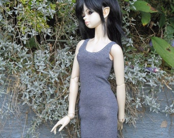 Jersey-summer, dress for BJD doll in SD, 1/3 size